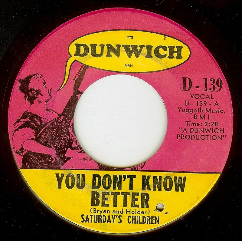 Saturday's+children+you+don't+know+better